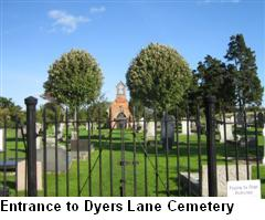 Entrance to Dyers Lane Cemetery