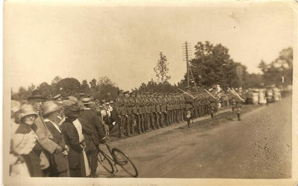 King George V inspects troops at Stretton, March 12th 1915