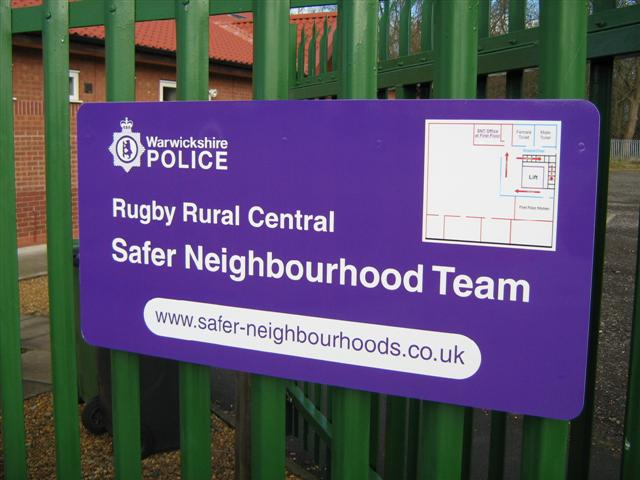 Safer Neighbourhood Team Sign